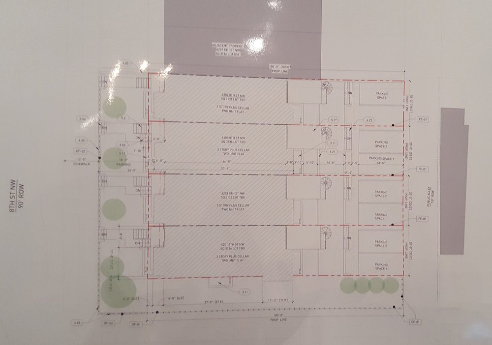 ERB blueprint of the footprint of the new building (courtesy Chris Broderick.)
