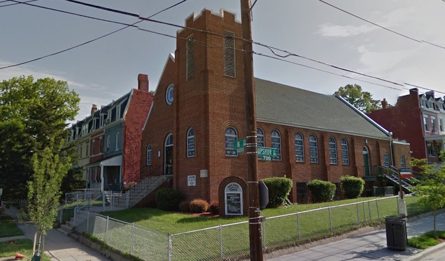 Rock Creek Baptist Church, 8th & Upshur St NW (photo: Google)