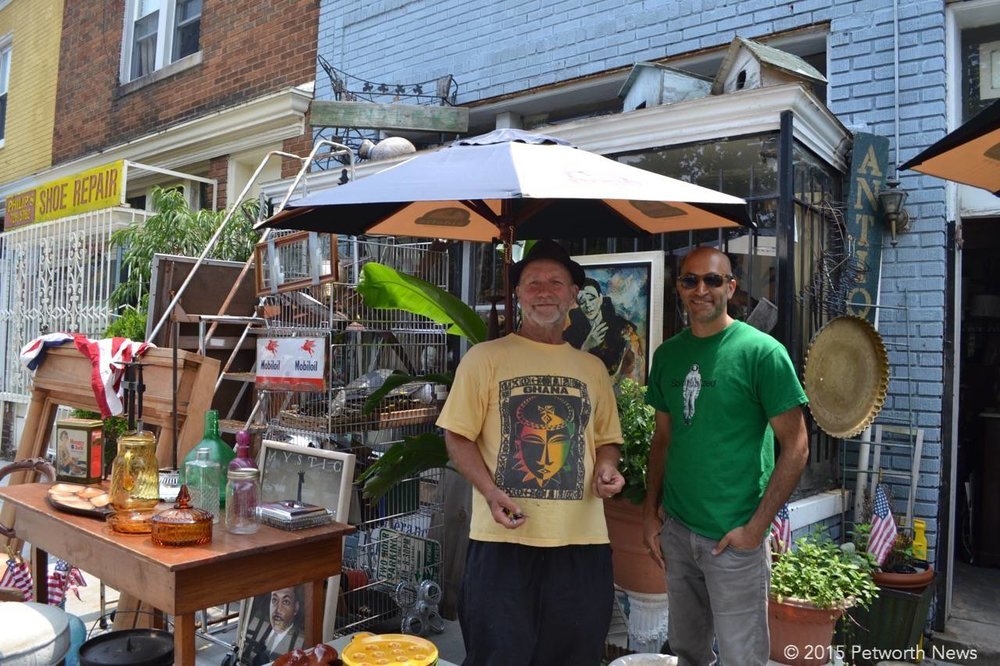 Tarek and Bertram Keller from Bentley's Antiques on Upshur Street