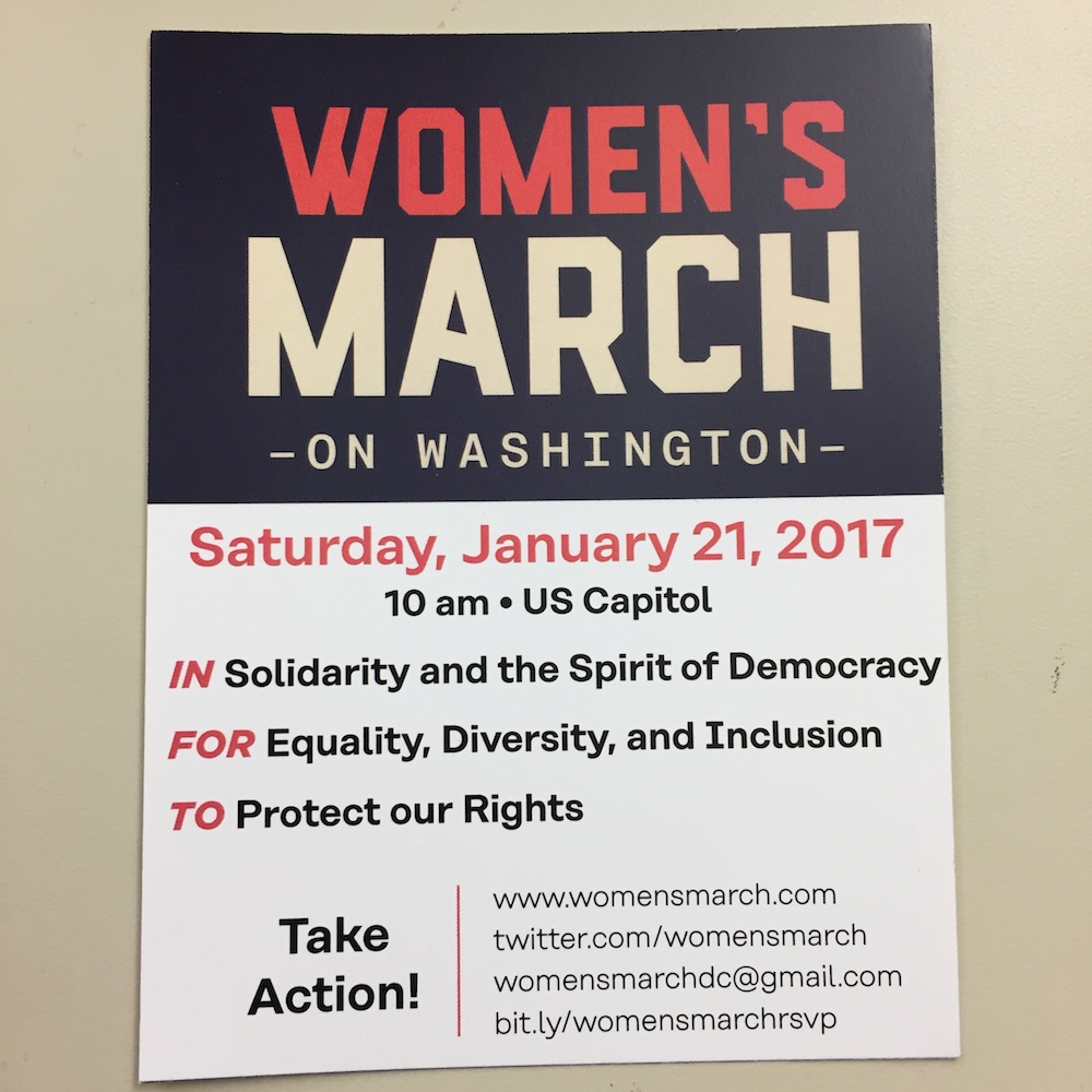 Flyer for the march