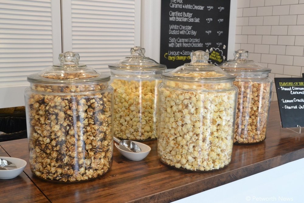A few tasty popcorn options awaiting you at Stella's Gourmet Popcorn