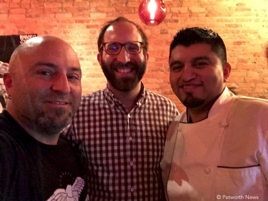 ANC 4C Chair Zach Teutsch and  Mezcalero  chef & owner Alfredo Solis, January 12, 2017.