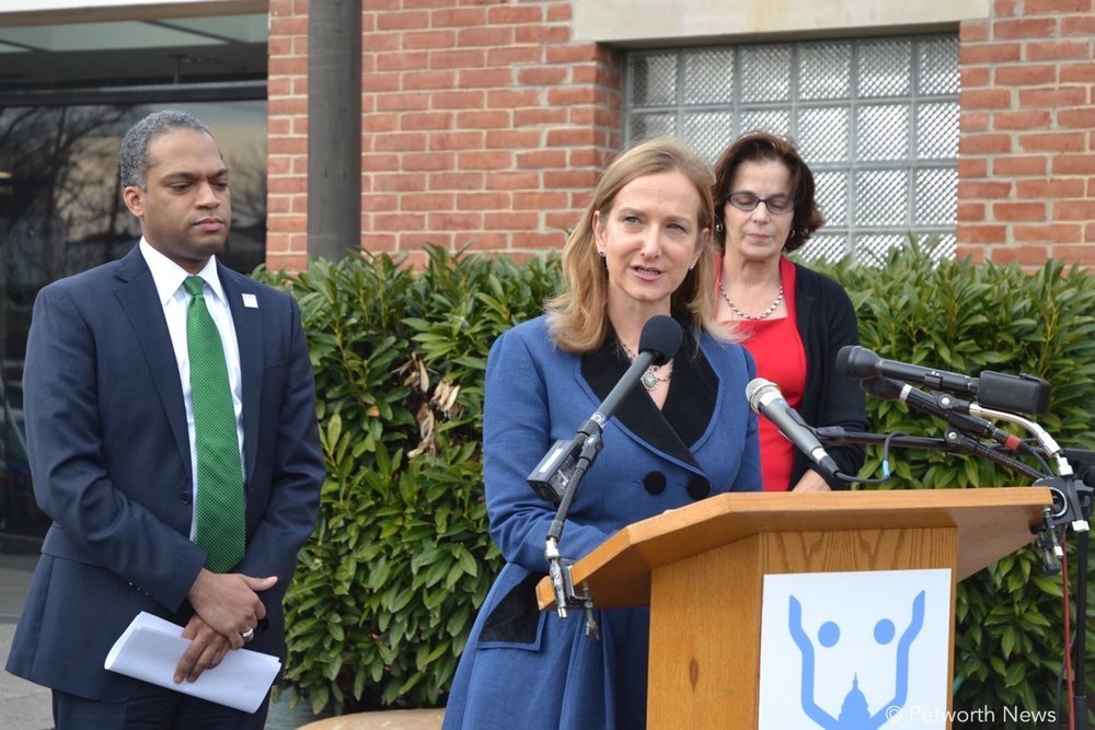 Lisa LaFontaine, the president and CEO of Humane Rescue Alliance speaks at the press conference, February 7, 2017