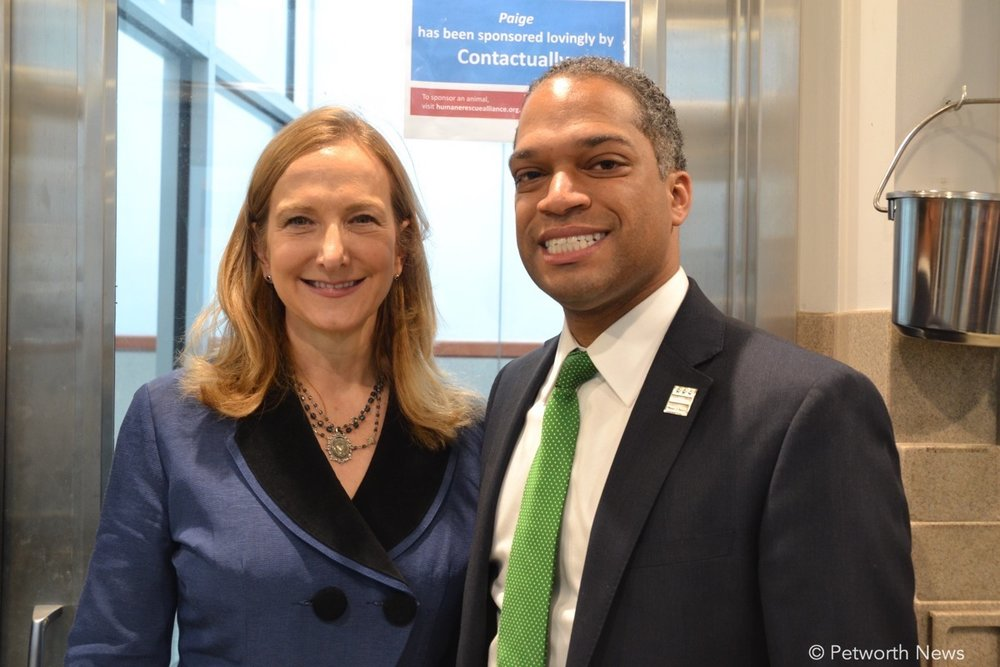 Humane Rescue Alliance CEO and President Lisa LaFontaine poses with Ward 4 Councilmember Brandon Todd.