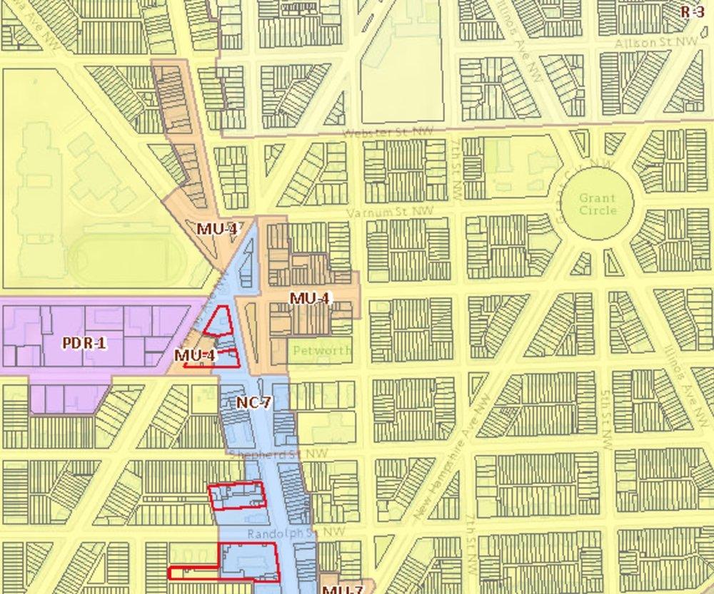 DCRA Zone Map