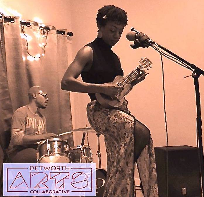December artist Ronya-Lee Anderson performing at Lighthouse Yoga Center (photo: Petworth Arts Collaborative)