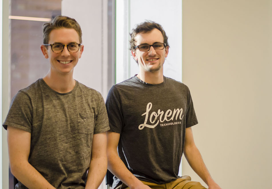 Lorem co-founders Charlie Fogarty and Sam Wilcoxon