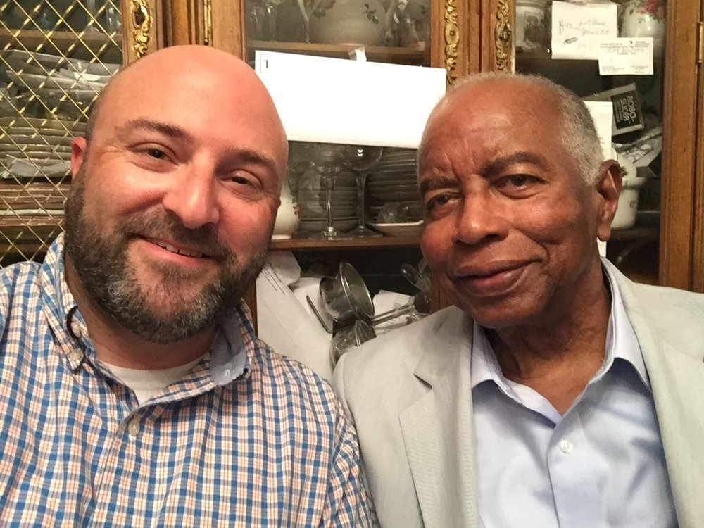 Petworth resident and former ANC 4C Chair Rudolph Harris takes a selfie with Drew. June 27, 2015