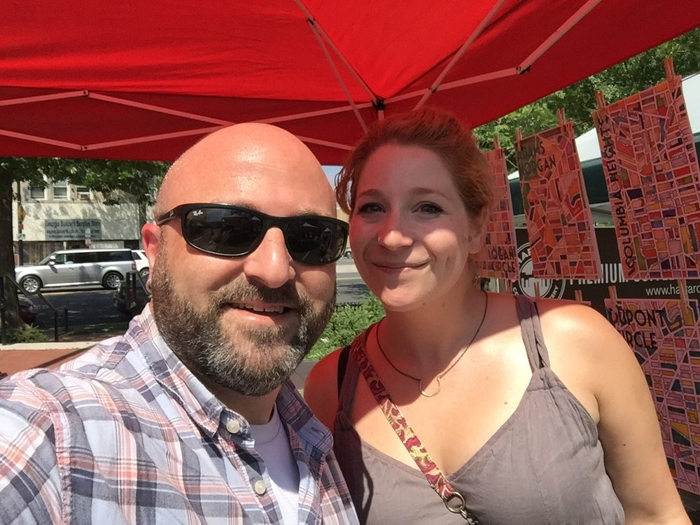 Artist Torie Partridge shares a selfie with Drew.    May 30, 2015