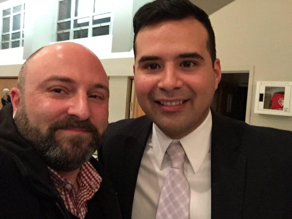 Pedro Rubio poses with Drew(3/24/15)