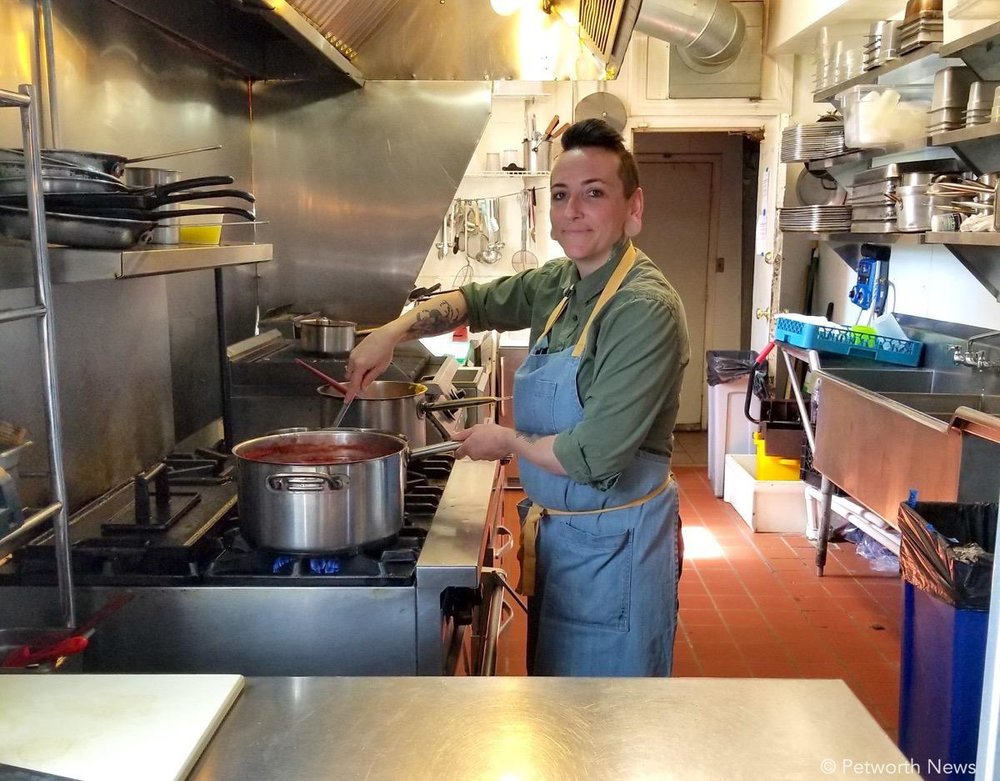 Chef Jamie Rutherford is cooking up a new menu with fresh ingredients.