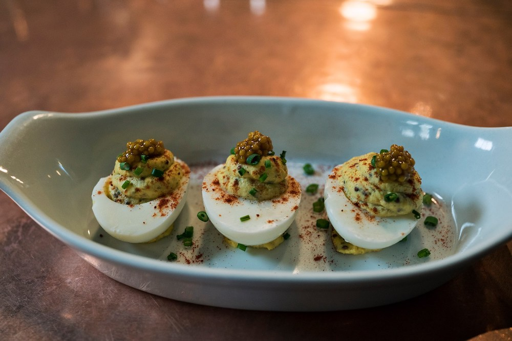 The deviled eggs