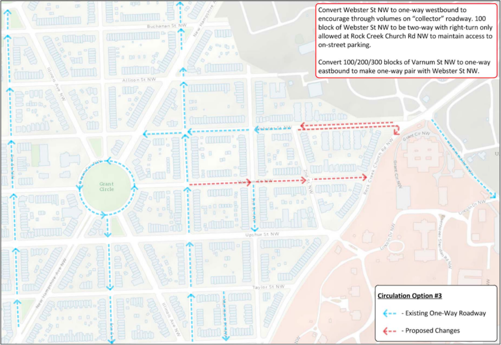 DDOT's recommended traffic flow changes (DDOT)