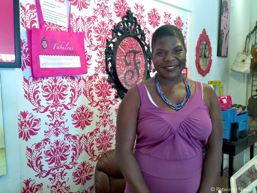 Fia Thomas, owner of Fia's Fabulous Finds