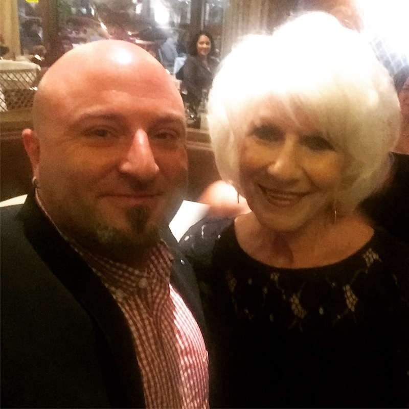 NPR radio host Diane Rehm takes a selfie with Drew, September 27, 2017