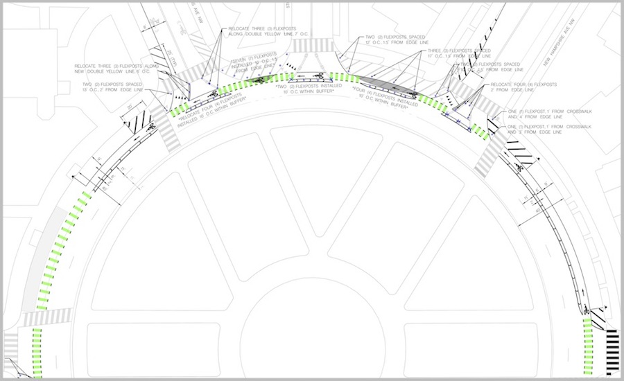 See a complete schematic of the new signage and changes (PDF from DDOT)