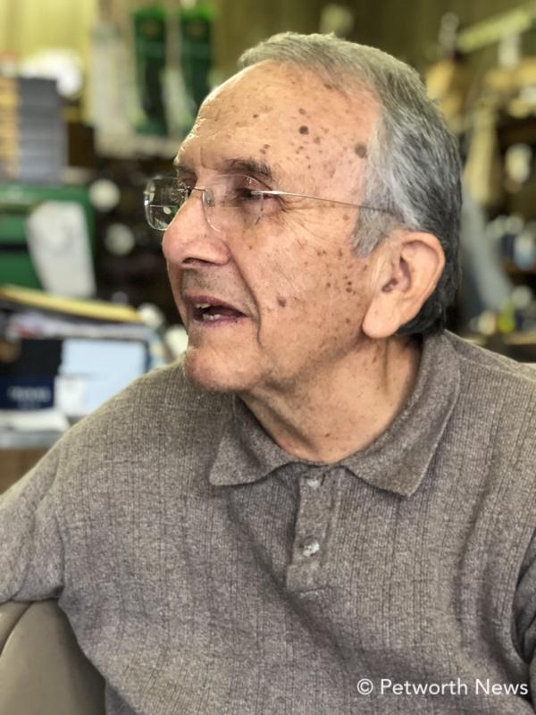 Philip Calabro, owner of Philip's Shoe Repair