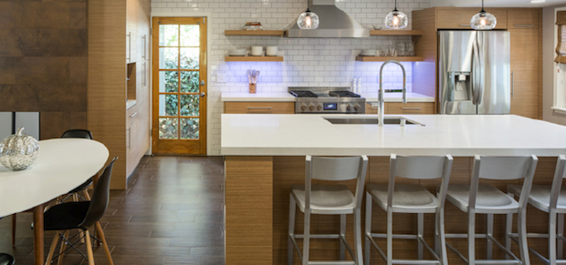 Engineered quartz countertops (photo: Marc Dosik)