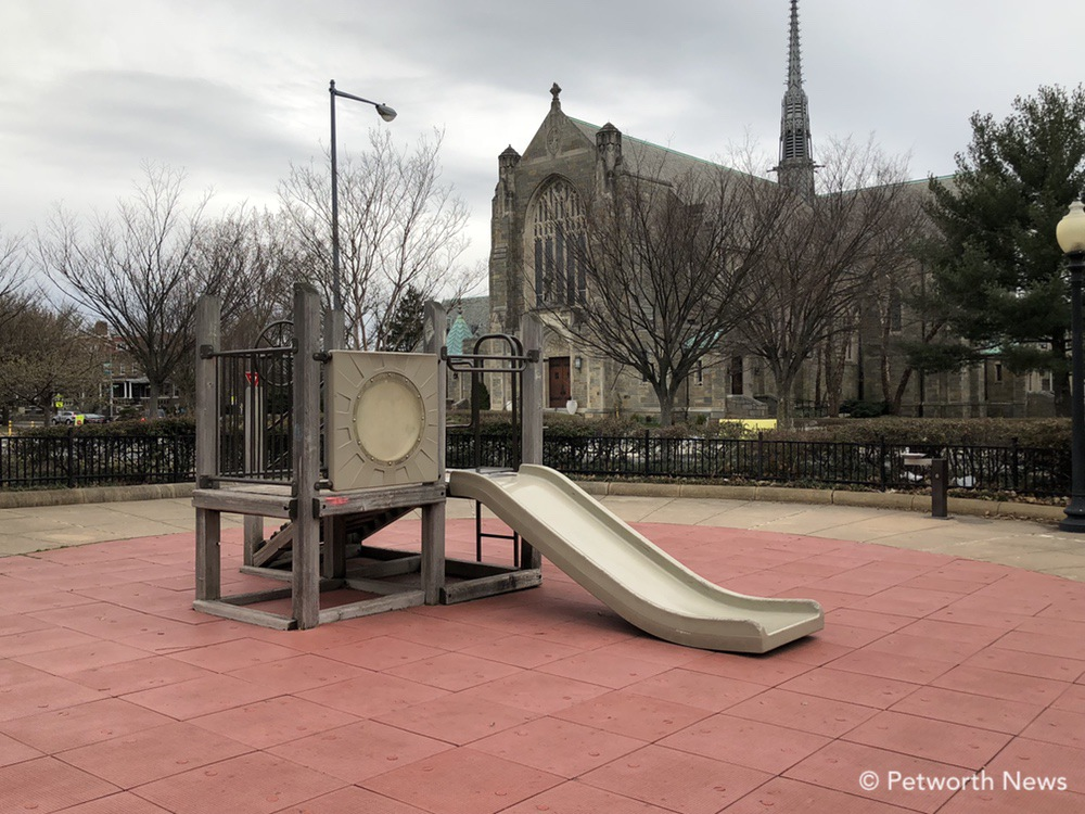 The small playground on the northside of Grant Circle.