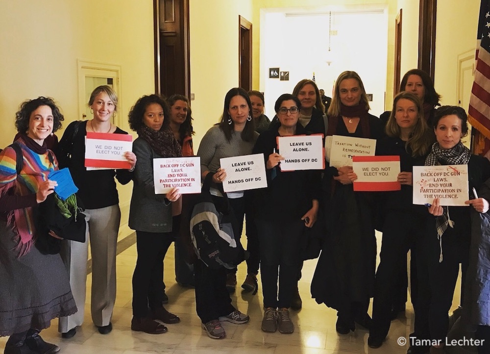 DC area and Petworth moms shared their message with the Senators on Capitol Hill