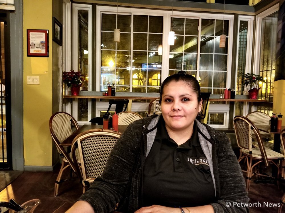 Highlands employee Delmy Centeno says her favorite dishes are the cajun pasta and the chicken breast