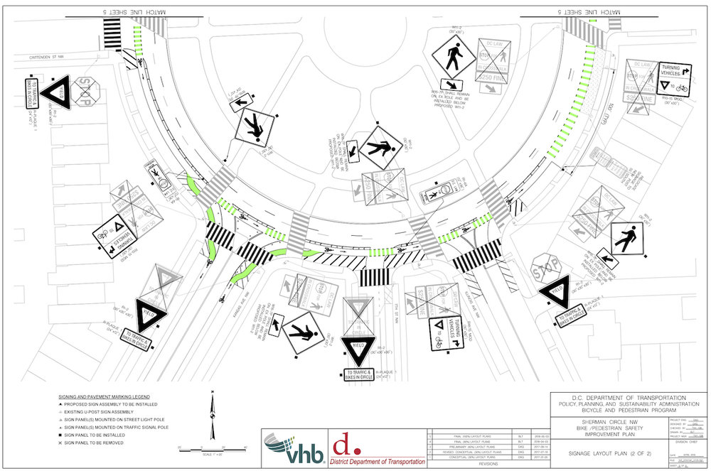 Some of the new signage going around Sherman Circle (from DDOT PDF).