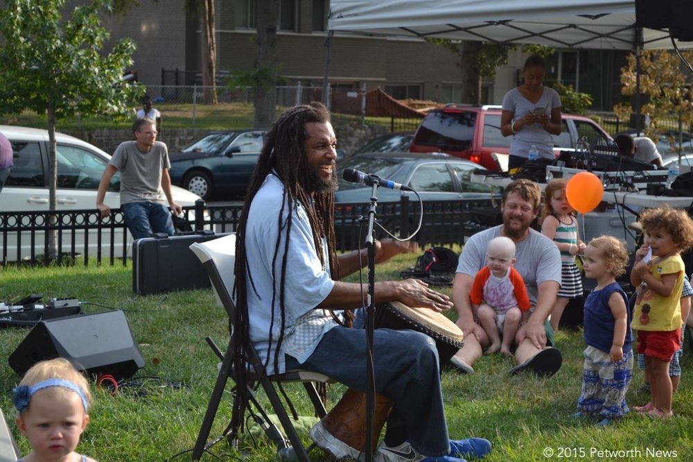 The ever-popular Baba Ras D returns to entertain kids at the Petworth Jazz Project...