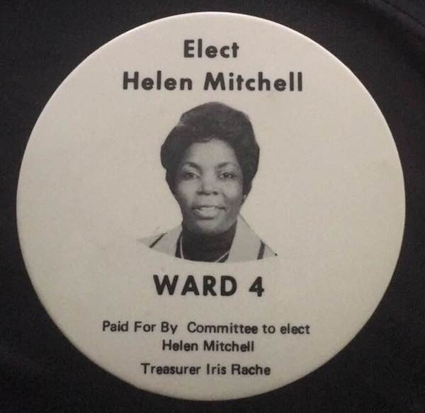 Campaign pin from Ms. Mitchell's Ward 4 Council election. (photo: Anthony Washington)