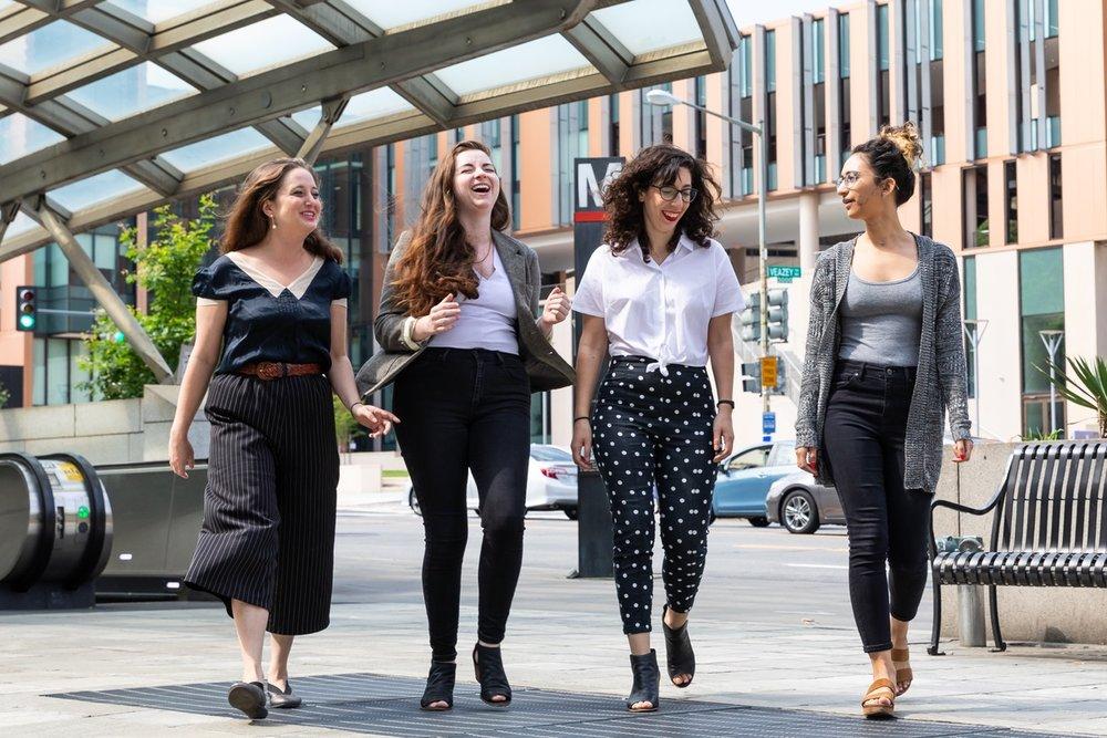 The new DCist line-up: Rachel Kurzius, Lori McCue, Rachel Sadon and Natalie Delgadillo (photo courtesy WAMU)