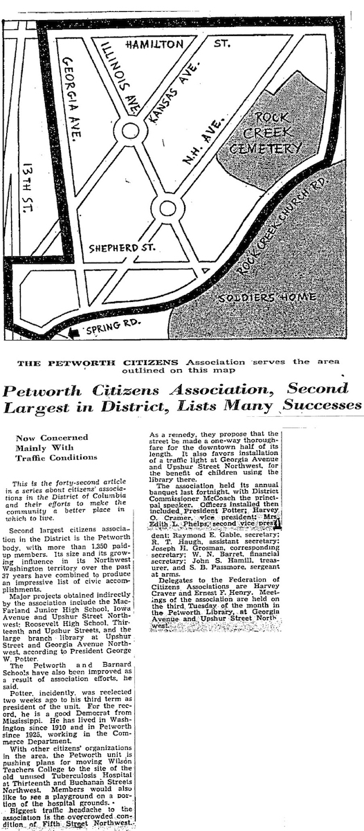 1940 WaPo article, courtesy  ParkViewDC.com