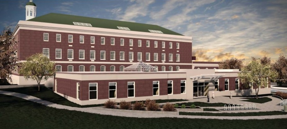 A rendering of New North Middle School