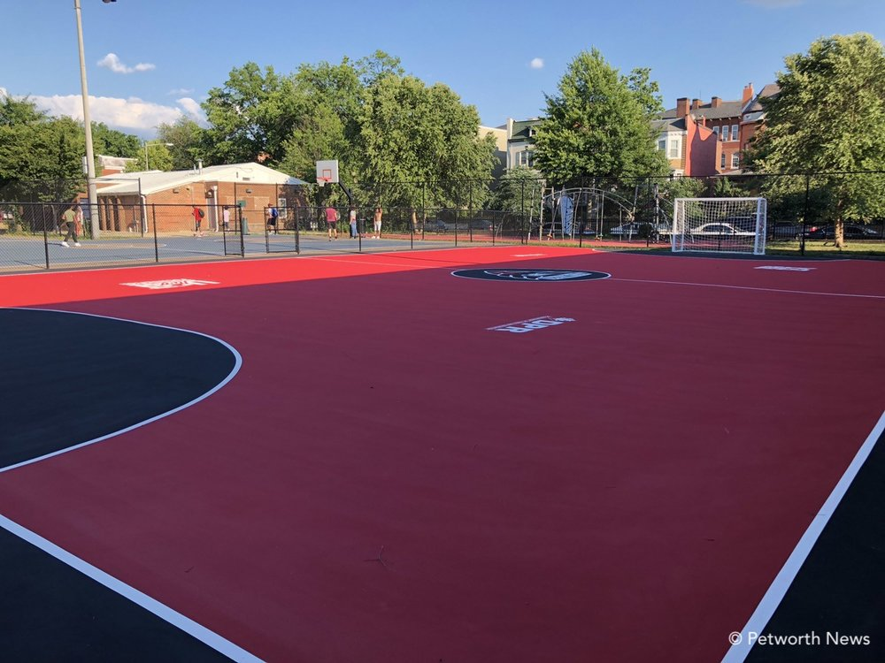 The new soccer mini-pitch futsal court at Petworth Rec Center.