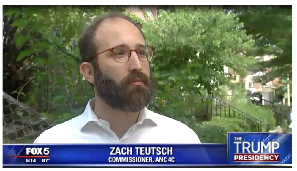 (Screen grab of ANC 4C Commissioner Zach Teutsch speaking to Fox News)