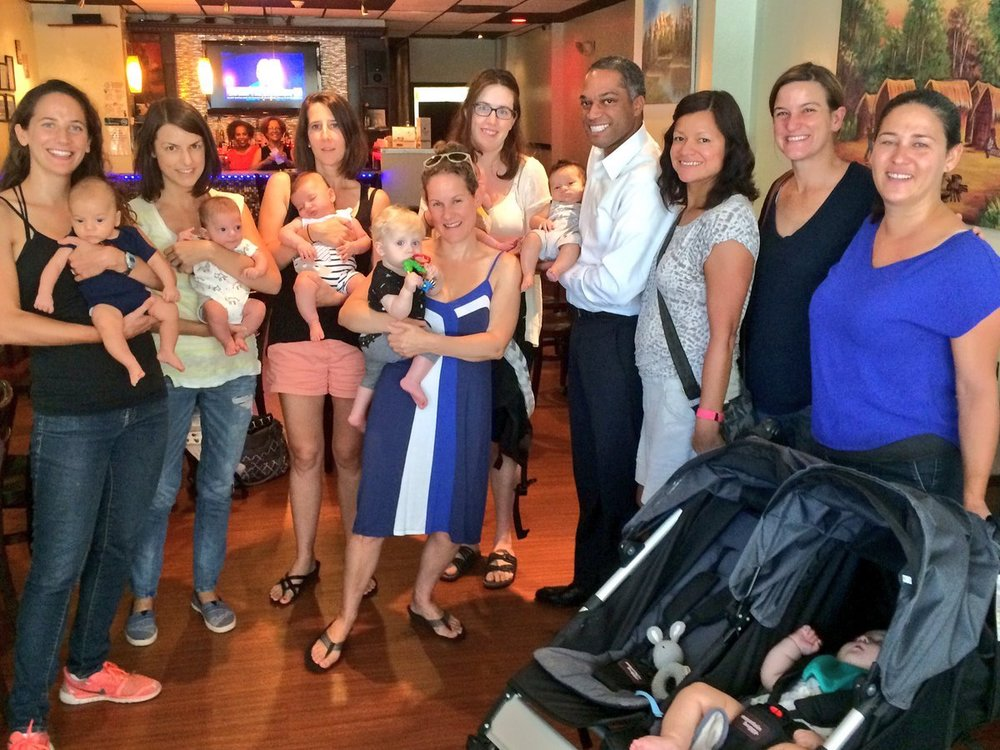 Councilmember Brandon Todd meets with Petworth Moms In 2016.