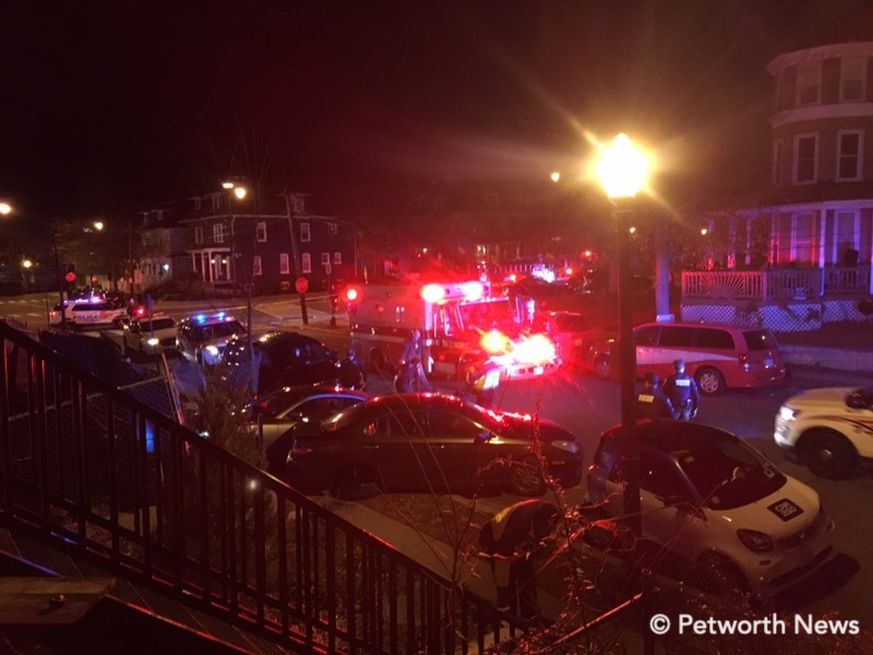 EMS on scene of the incident shortly after 11pm.