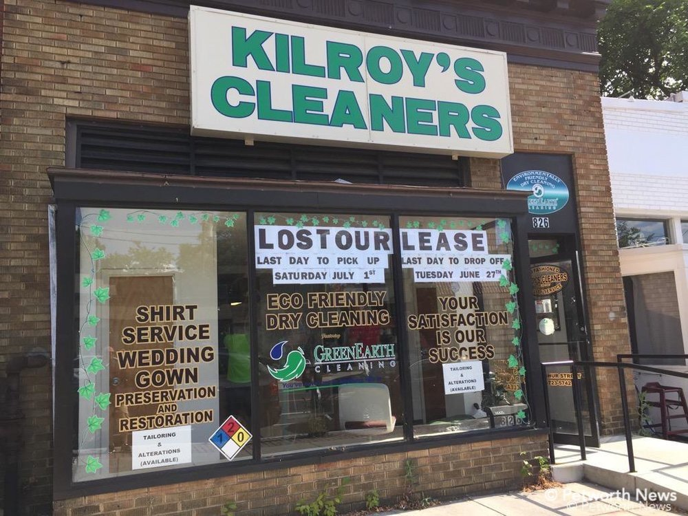 Kilroy's Cleaners closed in June 2017 after the building owner sold to a developer.