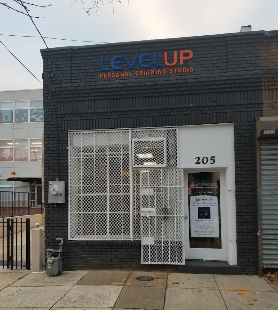 The Level Up Personal Training studio had to move to the 200 block of Upshur Street after its Georgia Avenue building was razed for condos.