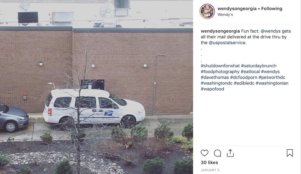 A recent Instagram post by WendysonGeorgia