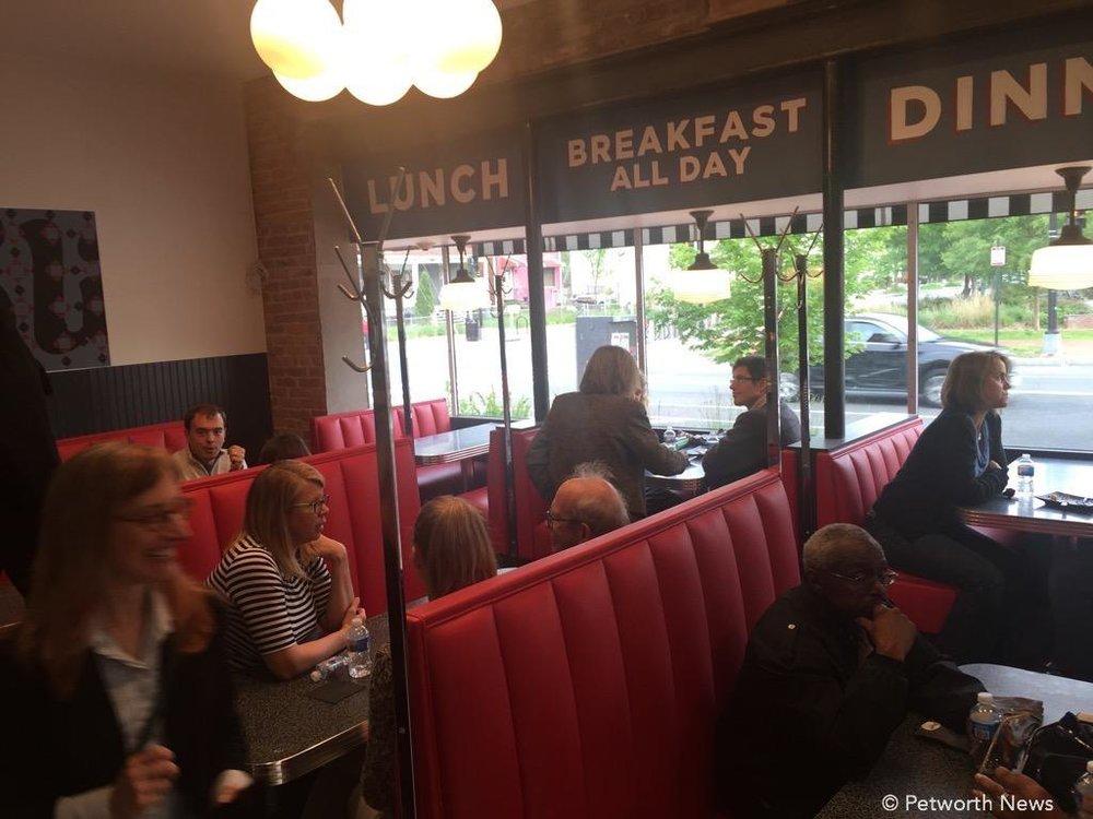 Inside Slim's Diner