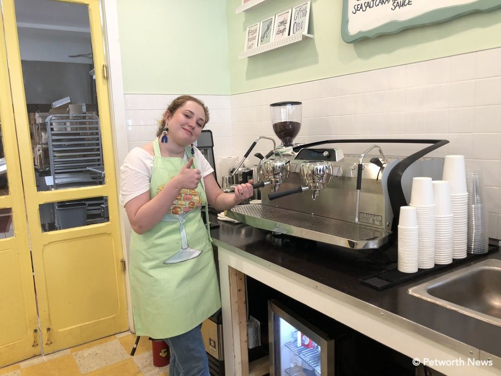 A new, high-end espresso / coffee maker gives Lulabelle's a lot of coffee options — including cocoa made with Wineinger's grandmother's recipe for hot fudge.