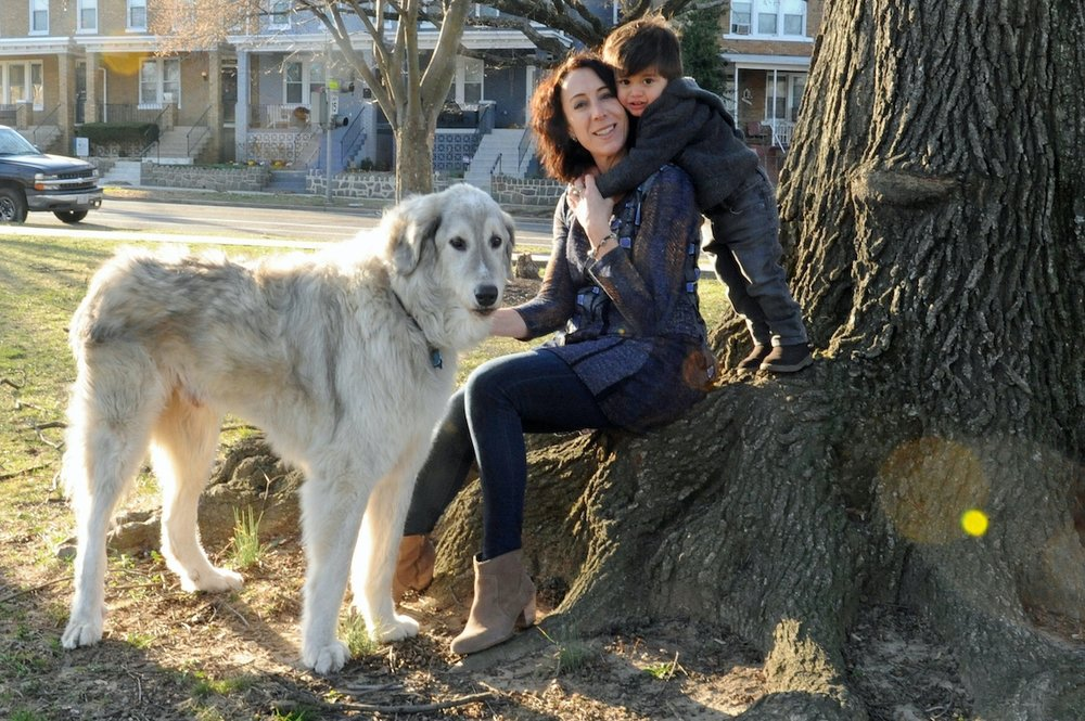 Nina and her son, with Sabra. (Photo: Linda Fittante)