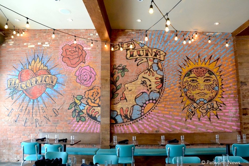 One of the many wall murals inside Taqueria del Barrio at 821 Upshur Street NW.