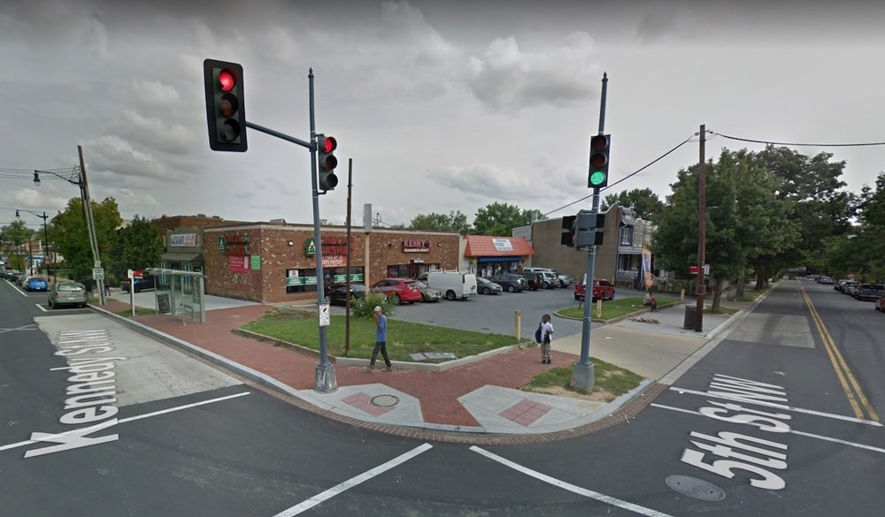 Google Street view of the 5th & Kennedy Streets intersection.