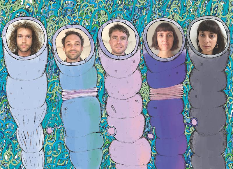 L-R: Finn Scholes, Tam Scholes, Alistair Deverick, Cass Basil,Siobhanne Thompson