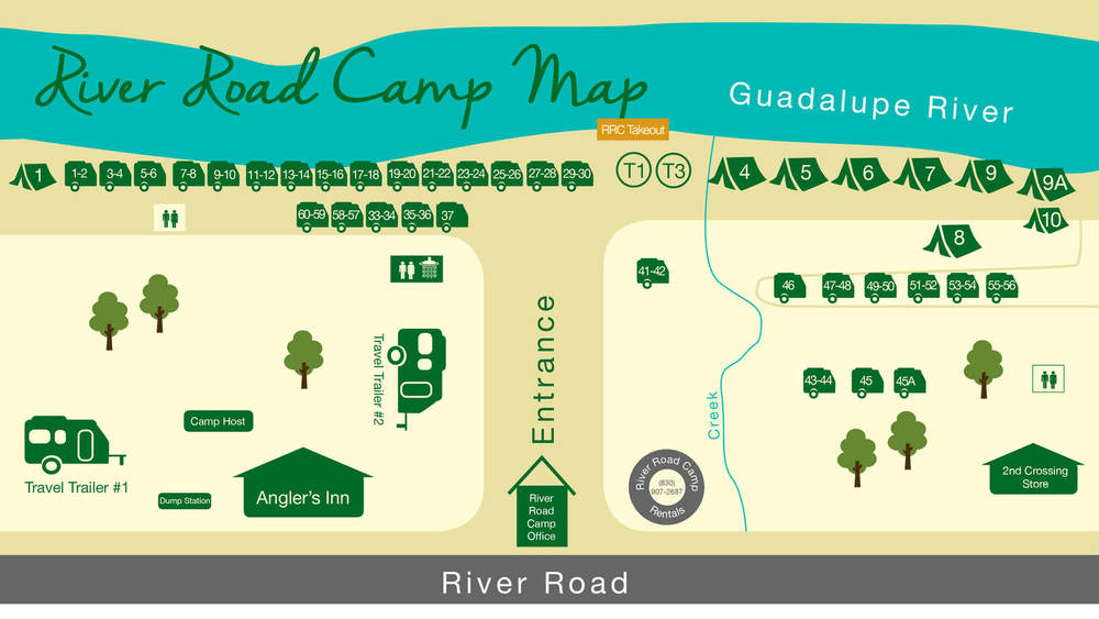 Camping River Road Camp - River road map