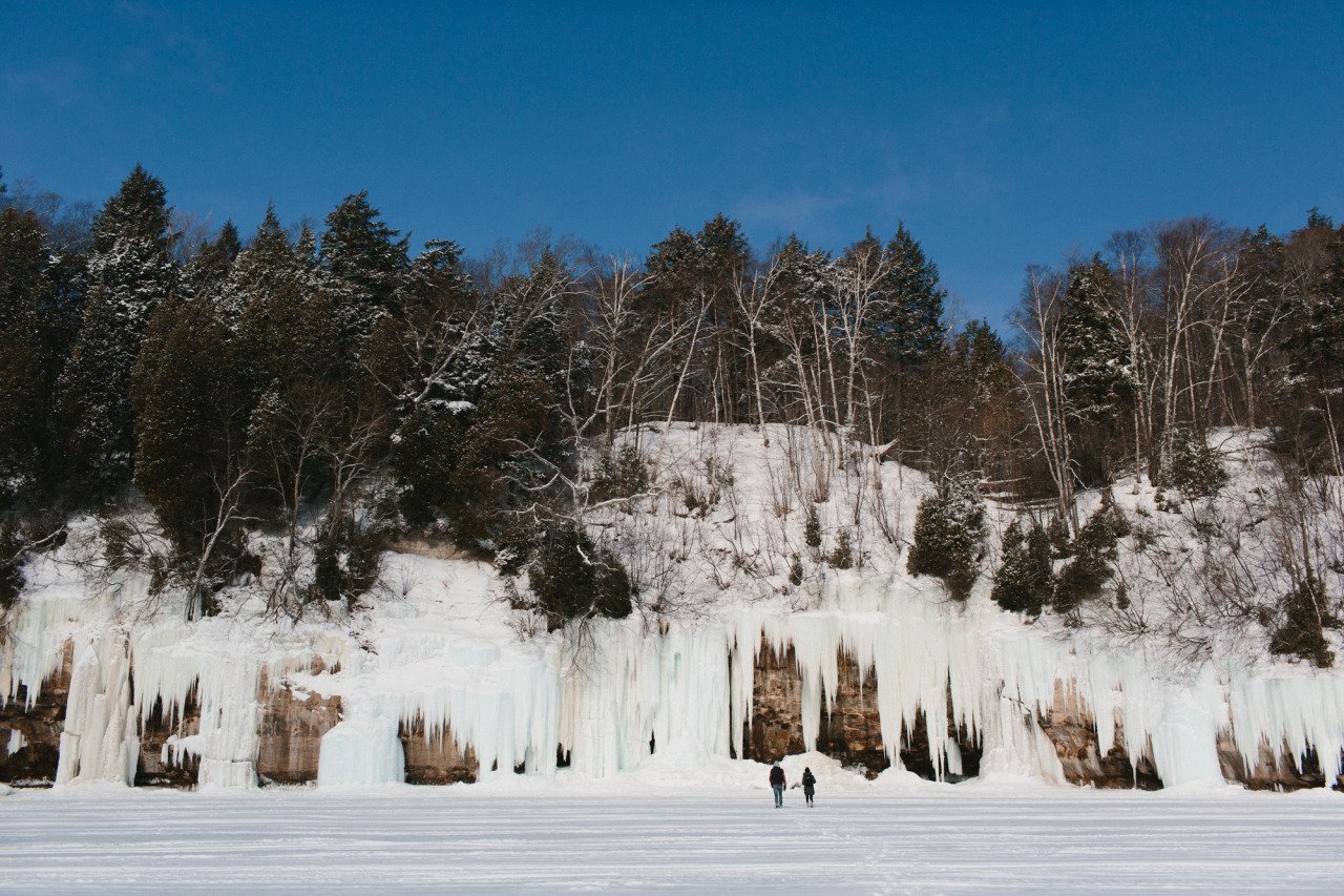 Ice Curtain at Pictured Rocks National Lakeshore // March 2014