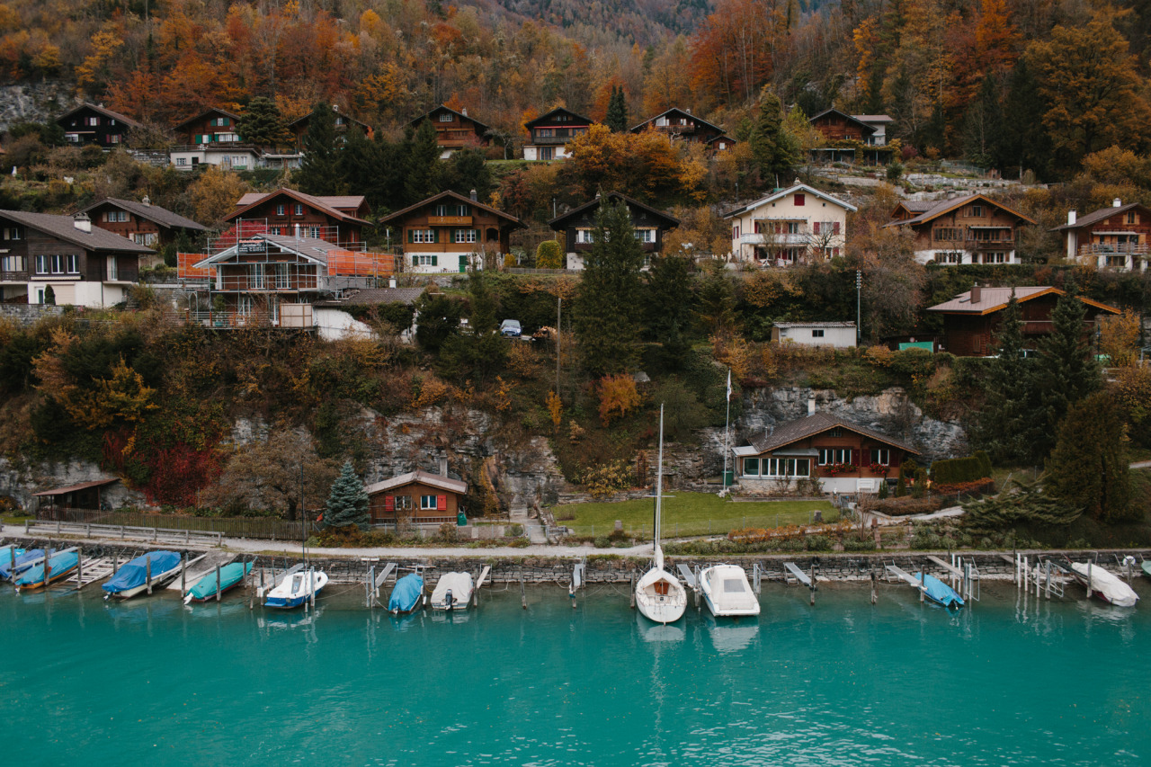 Interlaken, Switzerland // October 2012 I want to live in that little cottage with the orange shutters and take photos and write essays and sail every evening.