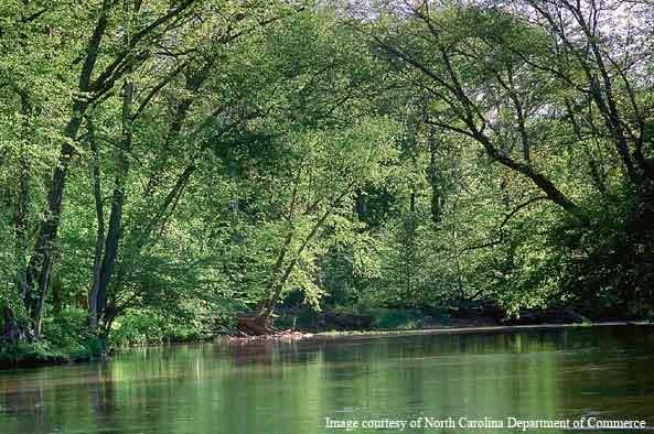 Part of Eno River, Durham NC (NC Department of Commerce)