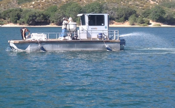 The application pontoons followed zones for the precise application and dosing of the prescribed concentration of PAK 27.