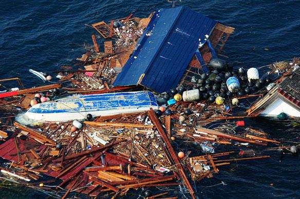 Tsunami debris (image via coastalcare.org).